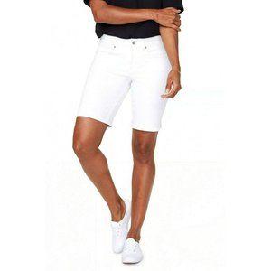 NYDJ Ella Denim Bermuda Shorts Optic White